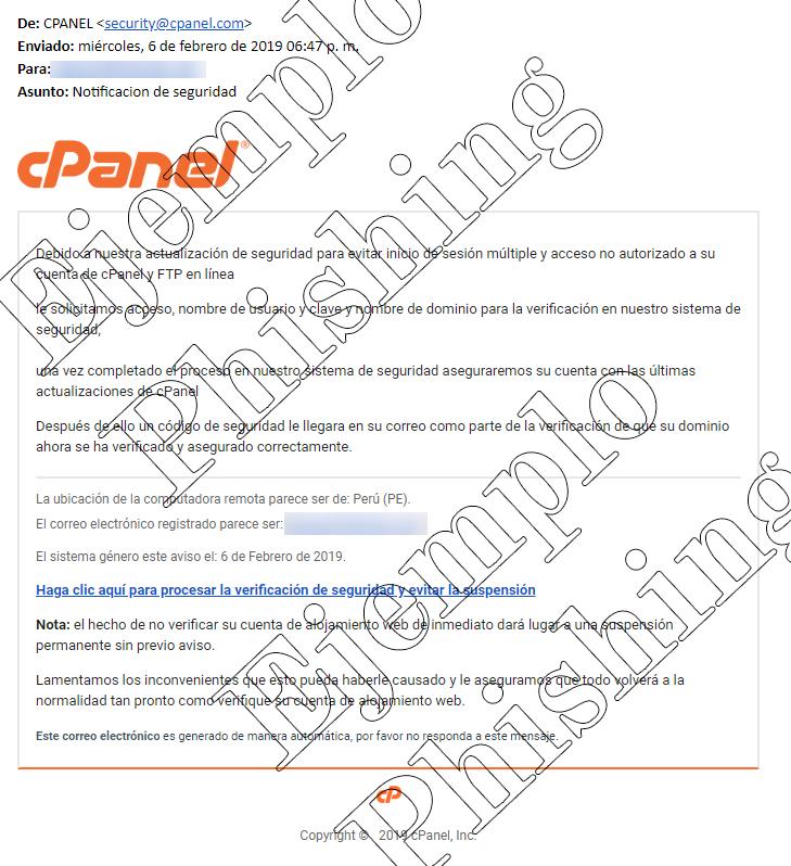 Phishing cPanel